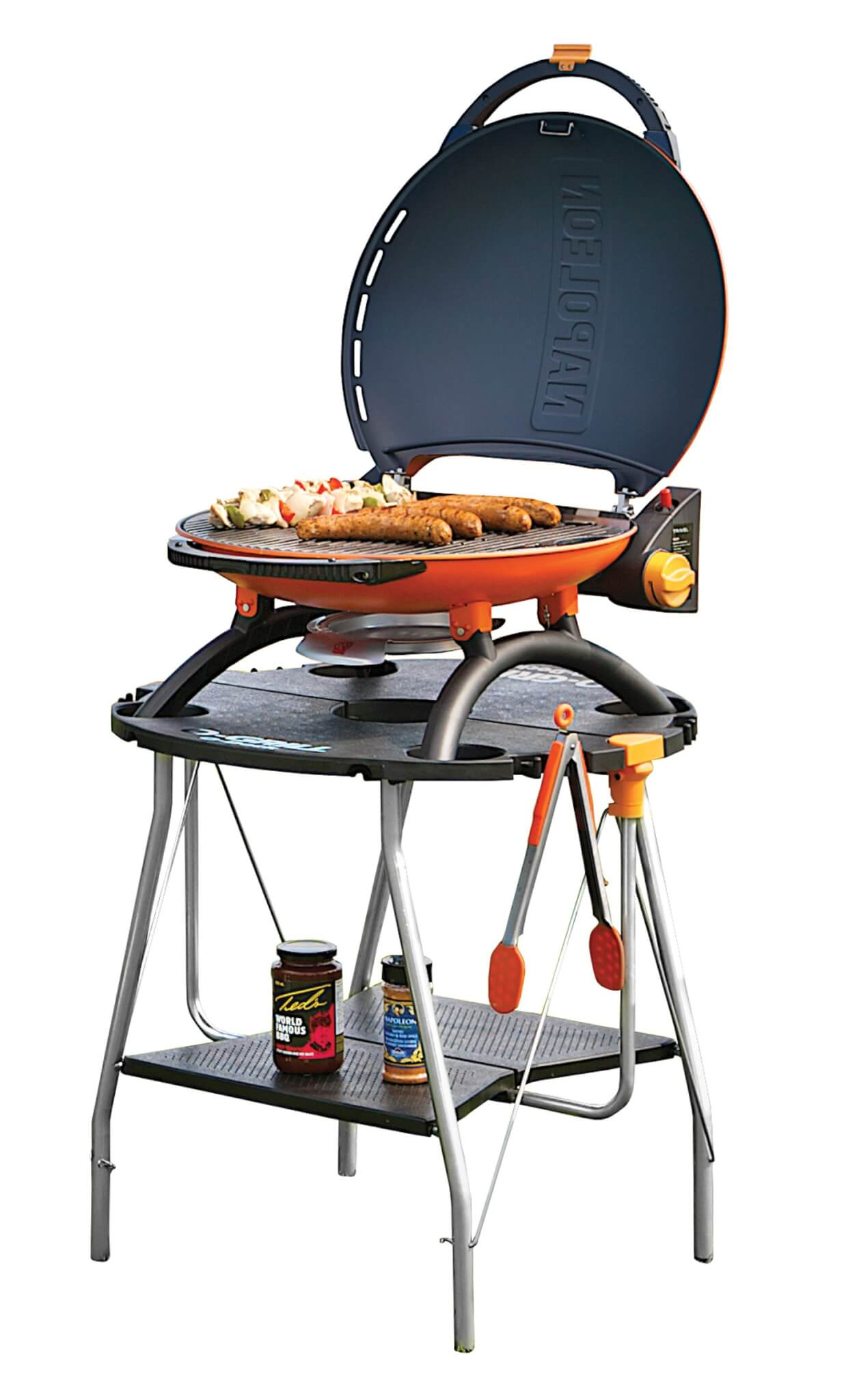napoleon travelq portable stand bbq grill people. Black Bedroom Furniture Sets. Home Design Ideas