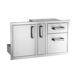 Access Door with Platter Storage & Double Drawer (Flush Mounted)
