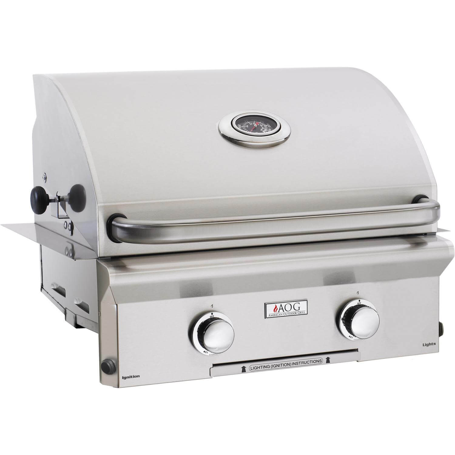 American outdoor grills l series 24 built in grill bbq for Outdoor barbecues built in