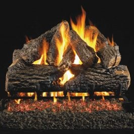 Real Fyre Charred Oak Vented Gas Log Set