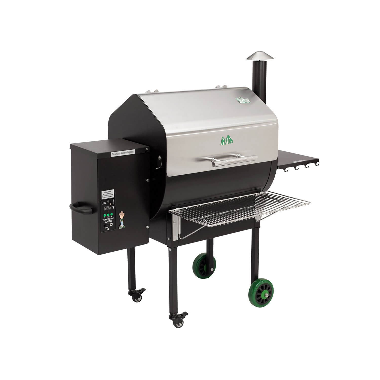 Green Mountain Grills Jim Bowie Front Shelf Bbq Grill People