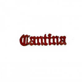cantina-metal-sign