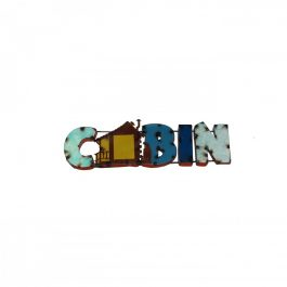 cabin-metal-sign