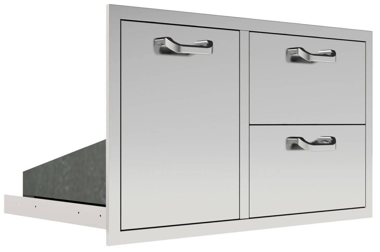 Acadia Series 36 Trash Propane Rollout 2 Drawer Combo